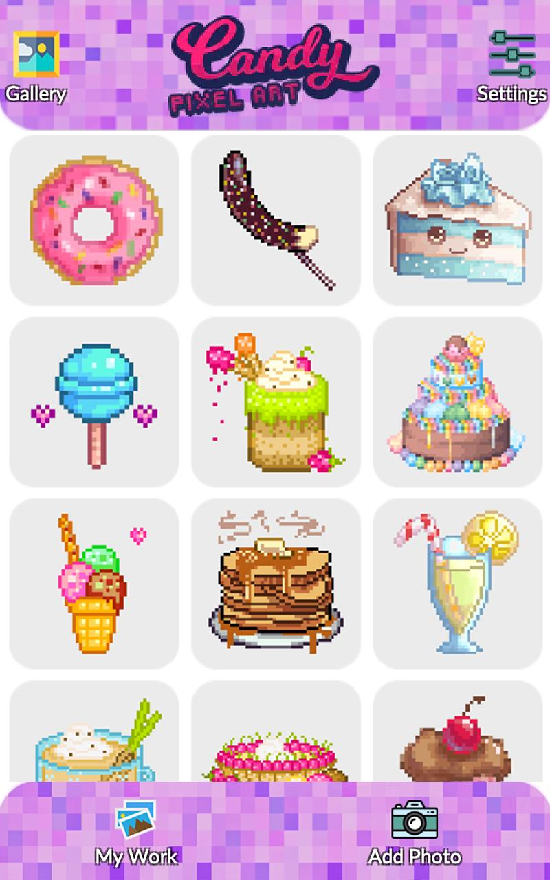 Candy Pixel Art Candy Sandbox Coloring For Android Apk