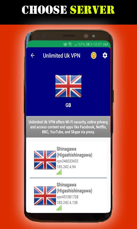 Unlimited United kingdom VPN-Free Uk Proxy VPN for Android - APK