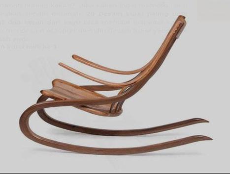 Unique Wooden Chairs Design poster