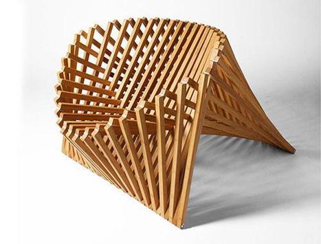 Unique Wooden Chairs Design screenshot 1