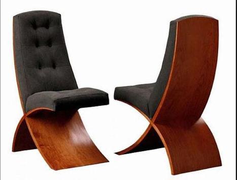 Unique Wooden Chairs Design screenshot 4