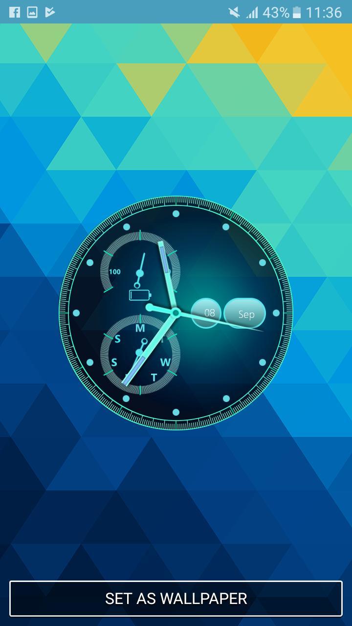 Android 用の アナログ 時計 ライブ 壁紙 壁紙 アプリ 動く 壁紙