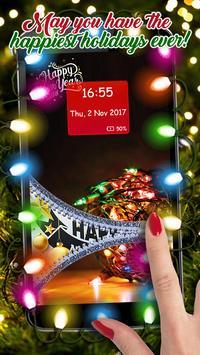Happy New Year Zipper Lock Screen Wallpapers 2019 screenshot 7