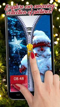 Happy New Year Zipper Lock Screen Wallpapers 2019 screenshot 8