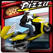 Pizza Bike Delivery Boy icon
