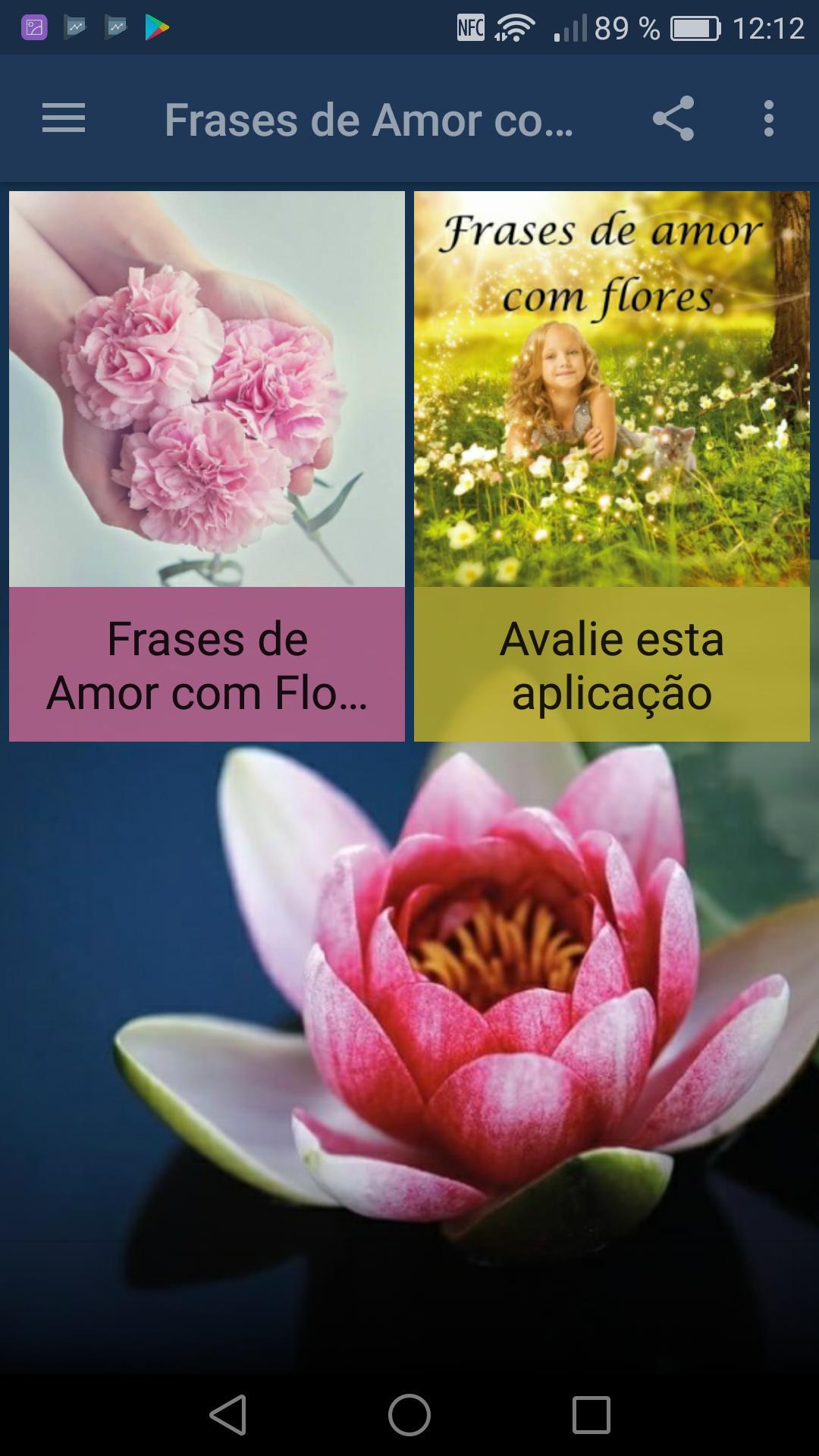 Frases De Amor Com Flores Em Português For Android Apk