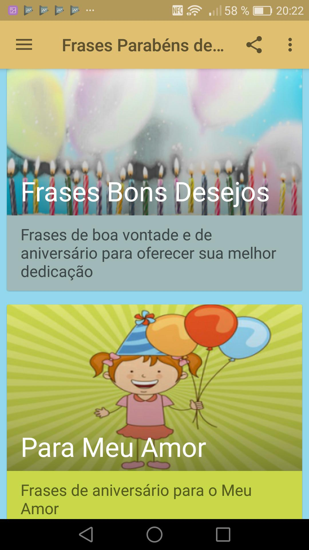 Frases De Parabéns De Aniversário For Android Apk Download