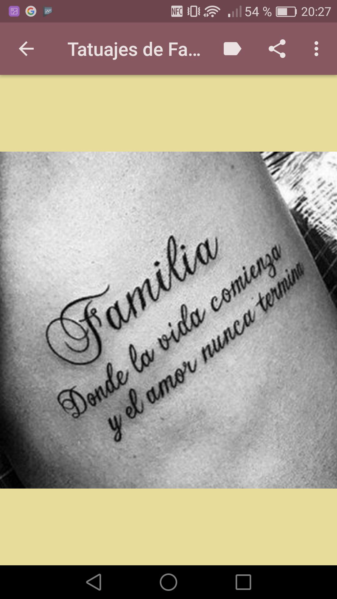 Tatuajes De Familia For Android Apk Download