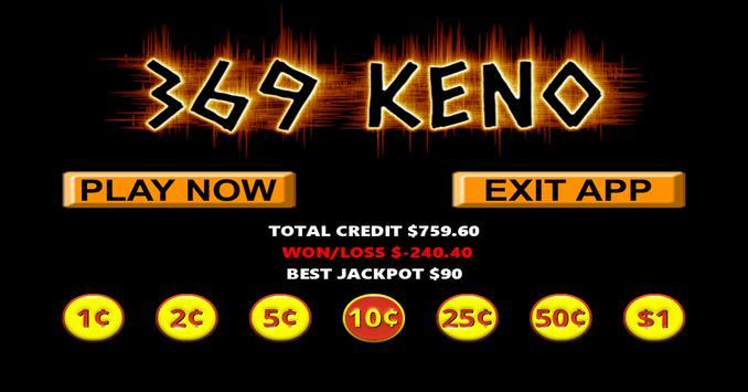 369 Vegas Style Keno screenshot 3