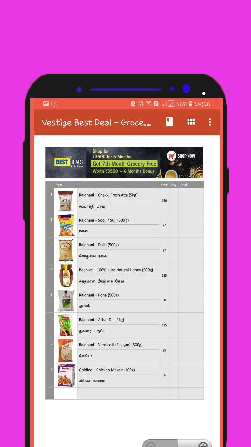 Vestige Best Deal Groceries List For Android Apk Download