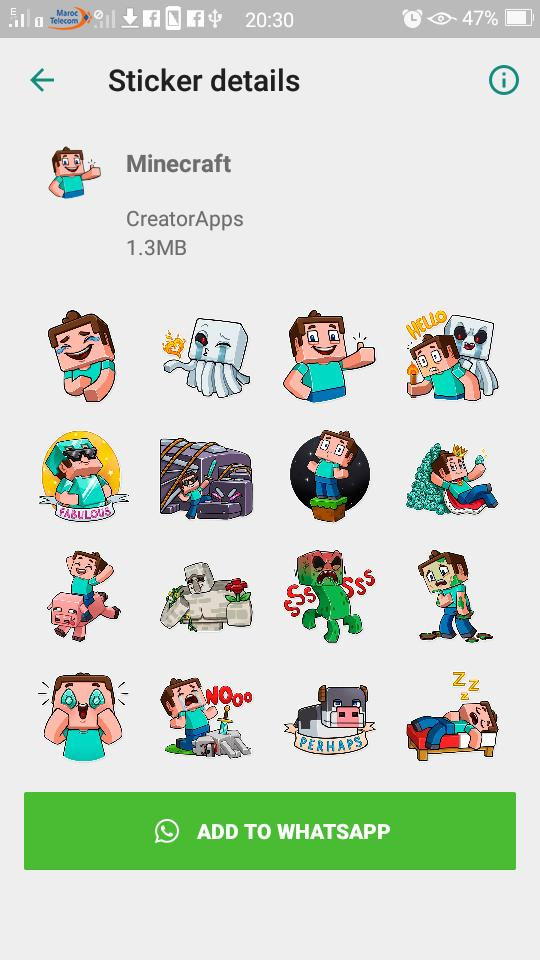 Wastickerapps Minecraft Sticker For Whatsapp For Android Apk Download