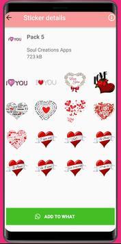 WAStickerApps Love❤️Love Sticker and amor stickers screenshot 3