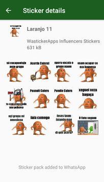 WAstickerApps Laranjo Memes Adesivos screenshot 3