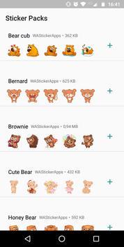 🐻 WAStickerApps - Urso e ursinho de pelúcia imagem de tela 1