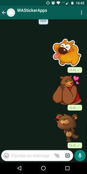 🐻 WAStickerApps - Urso e ursinho de pelúcia imagem de tela 2