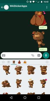 🐻 WAStickerApps - Urso e ursinho de pelúcia imagem de tela 3