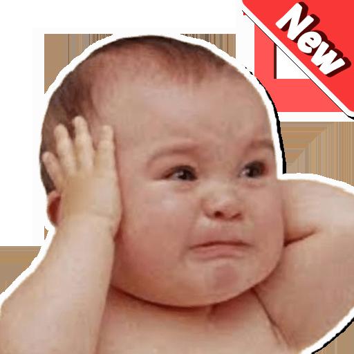 Lustige Baby Gesichter Aufkleber WAStickerApps