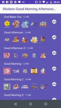 WAStickers- Good Morning, and Night Stickers screenshot 1