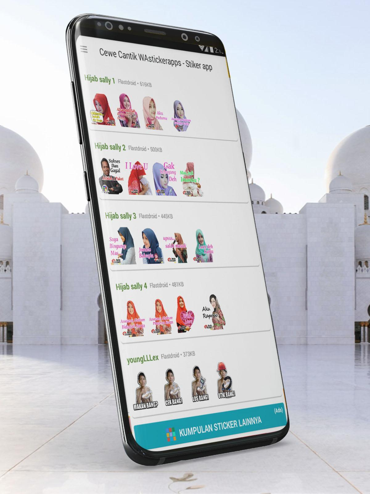 WaSticker gadis muslim stiker lucu for Android APK Download