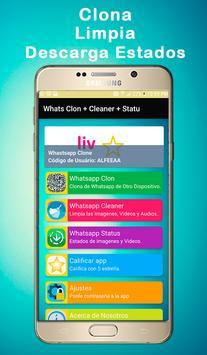 Whats Clon + Cleaner + Statu poster
