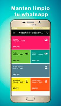 Whats Clon + Cleaner + Statu screenshot 8