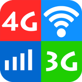WiFi, 5G, 4G, 3G Speed Test -Speed Check - Cleaner ícone