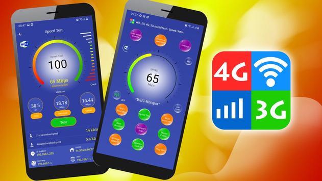 WiFi, 5G, 4G, 3G Speed Test -Speed Check - Cleaner Cartaz