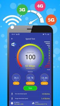 WiFi, 5G, 4G, 3G Speed Test -Speed Check - Cleaner imagem de tela 1