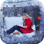 Winter Photo Frames With Snowfall icon