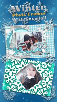 Winter Photo Frames With Snowfall poster