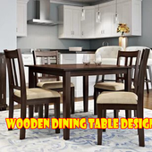 Wooden Dining Table Design icon