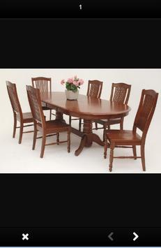 Wooden Dining Table Design screenshot 5
