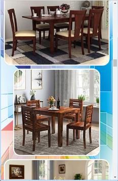 Wooden Dining Table Design screenshot 6
