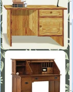 Wooden study table design screenshot 7