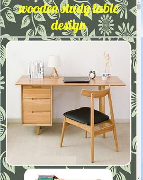 Wooden study table design poster