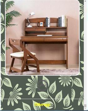 Wooden study table design screenshot 2