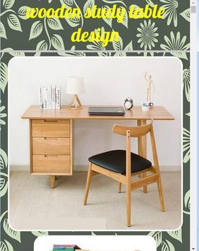 Wooden study table design screenshot 3
