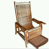Wooden chair design icon