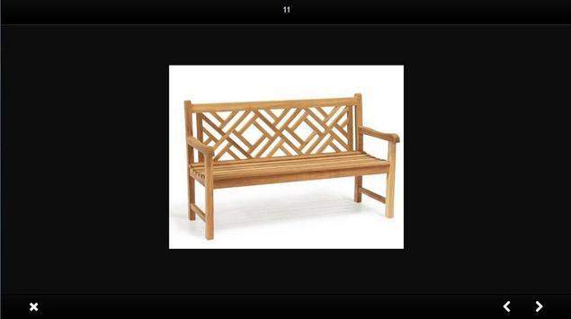 Wooden chair design screenshot 4
