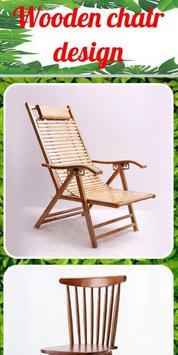Wooden chair design poster