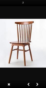 Wooden chair design screenshot 1