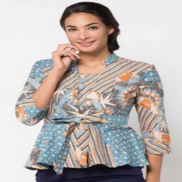 Working Batik Blouse poster