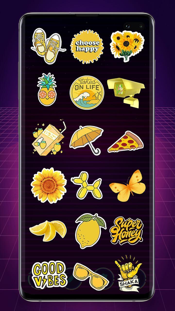 Stiker Kuning Yang Indah Editor Foto Stiker For Android Apk Download