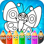 Coloring games : coloring book icon