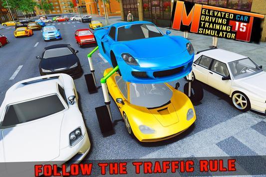 Elevated Car Racing Speed Driving Parking Game تصوير الشاشة 17