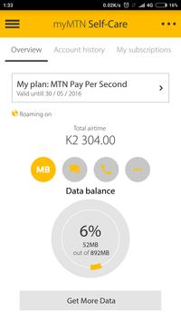 MyMTN screenshot 1