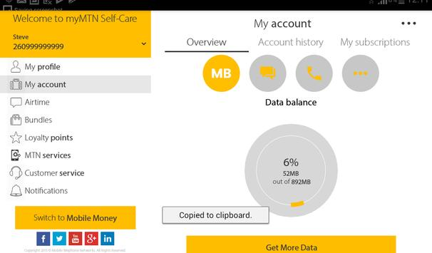 MyMTN screenshot 9