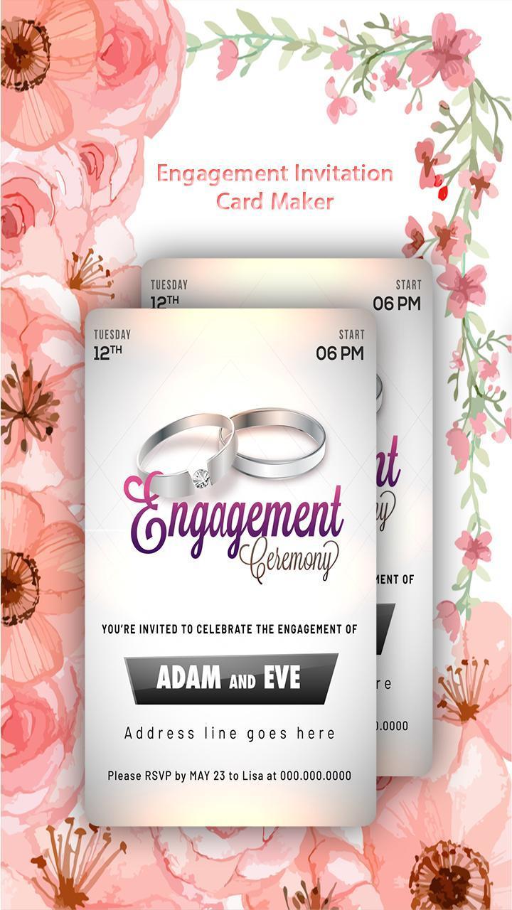 Engagement Invitation Card Maker poster