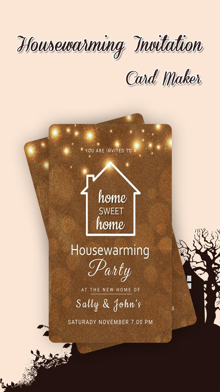 Housewarming Invitation Maker For