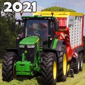 Real Tractor Farm Simulator And Cargo Animals icon